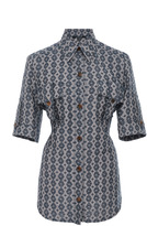Derek Lam Short Sleeve Utility Shirt