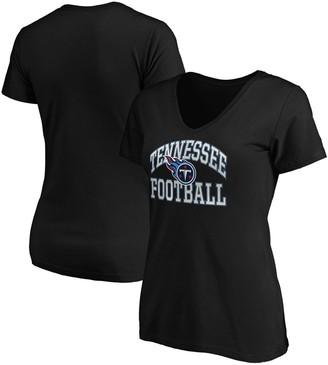 Majestic Women's Black Tennessee Titans Showtime Franchise Fit V-Neck T-Shirt