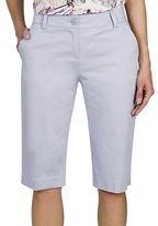 Haggar Petite Refined Bermuda Shorts