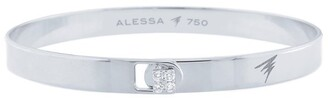 Alessa White Gold And Diamond Spectrum Solid Bangle
