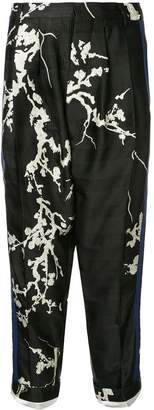Haider Ackermann embroidered floral details trousers