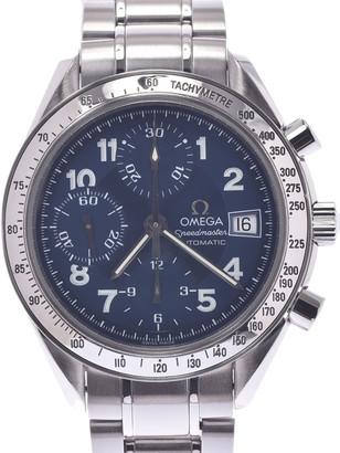 Omega Blue Stainless Steel Speedmaster Date 3513.82 Men's Wristwatch 39 MM