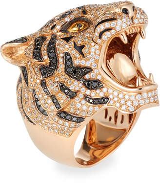 Roberto Coin 18k Rose Gold Diamond Pave Tiger Ring, Size 7