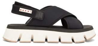 Marni Fussbett Neoprene Slingback Sandals - Womens - Black