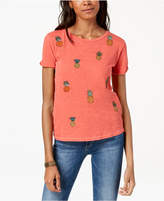 Lucky Brand Embroidered Pineapple T-Shirt, Created for Macy's