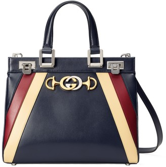 Gucci SmallTricolor Leather Top Handle Bag