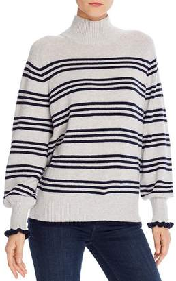 Rebecca Taylor Striped Blouson-Sleeve Sweater - 100% Exclusive