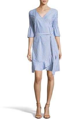 Label By 5twelve Ruffled Half-Sleeve Wrap Dress