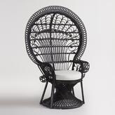 Black Wicker Peacock Chair