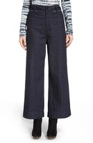 Proenza Schouler Wide Leg Crop Denim Pants