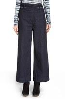 Proenza Schouler Women's Wide Leg Crop Denim Pants