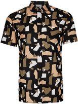 Topman Topman Torn Paper Short Sleeve Shirt