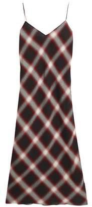 Vince Checked Gauze Midi Slip Dress