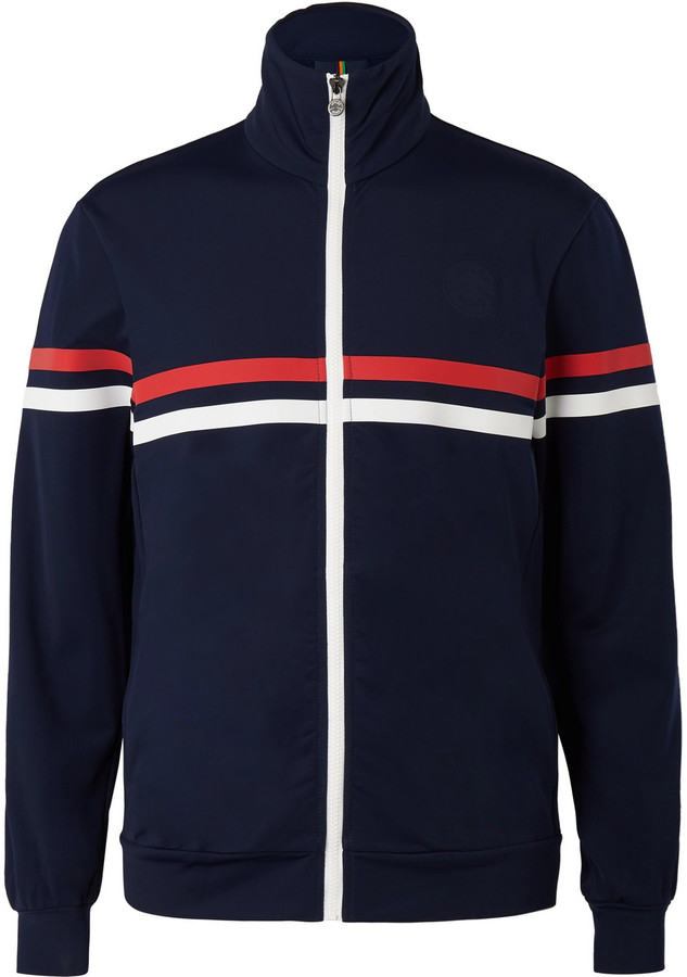 Iffley Road Petersham Slim-Fit Striped Track Jacket