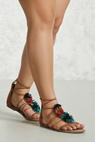 Forever 21 FOREVER 21+ Fringe Gladiator Sandals (Wide)