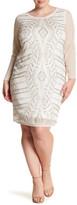 Marina Beaded Glitter Sheath Dress (Plus Size)