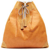 Penelope Chilvers Apricot Pony Leather Rucksack