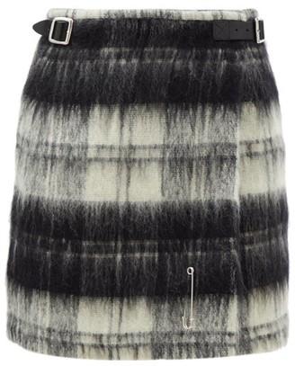 Le Kilt Vass 18 Tartan Brushed-wool Kilt - Black White