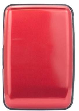 Miami Carryon Metallic Finish RFID Aluminum Wallet / Card Holder (Red)