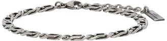 Saint Laurent Silver Figaro Chain Bracelet