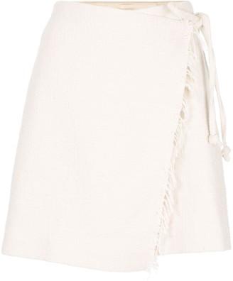Nanushka Delaney wrap style skirt