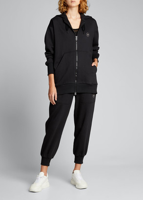 adidas by Stella McCartney Front Zip French-Terry Logo Hoodie