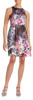Adrianna Papell Floral Fit-and-Flare Dress