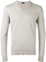 Drumohr V-neck jumper - men - Linen/Flax/Polyamide - 50