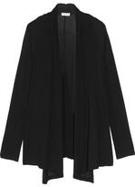 Splendid Wrap-effect Stretch-knit Cardigan - Black