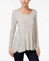 Style&Co. Style & Co Striped High-Low Top, Only at Macy's