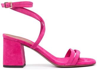 L'Autre Chose Strappy Block Heel Sandals