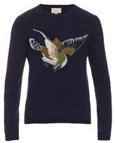 Gucci Bird And Number-intarsia Wool Sweater