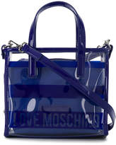 Love Moschino clear logo crossbody bag