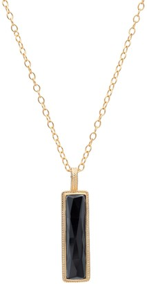 Anna Beck 18K Gold Plated Sterling Silver Hematite Bar Long Necklace