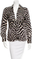 Roberto Cavalli Silk Printed Top w/ Tags