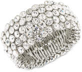 Carolee Silver-Tone Crystal Stretch Bracelet