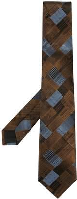 Cerruti cross hatch print tie