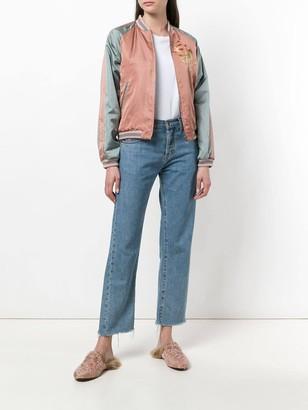 Gucci Sequin Embellished Bomber Jacket Multicolor