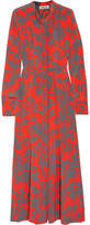 Diane von Furstenberg Printed Washed-silk Maxi Dress