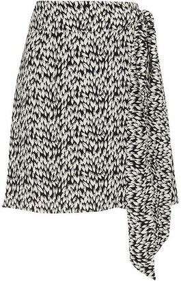 Whistles Petal Print Wrap Skirt