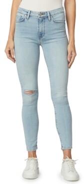 Hudson Barbara Ripped Skinny Ankle Jeans