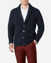 N.Peal Ribbed Shawl Collar Cashmere Cardigan