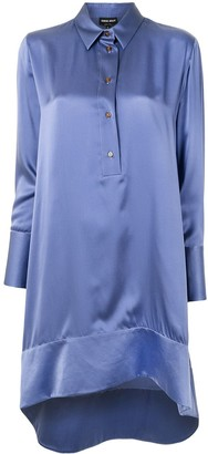 Giorgio Armani Mulberry Silk High Low Shirt