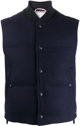 Thom Browne Snap-Button Padded Waistcoat