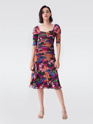 Diane von Furstenberg Dacey Mesh Midi Dress