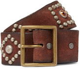 RRL - 4.5cm Brown Studded Leather Belt