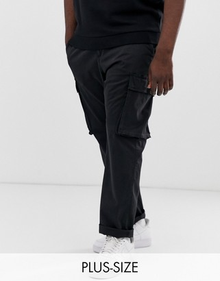 French Connection Plus cargo trouser-Navy