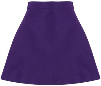 Christian Siriano A-line mini skirt