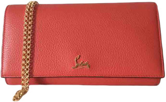 Christian Louboutin Red Leather Clutch bags