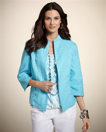 Chico's Core Linen Correy Jacket